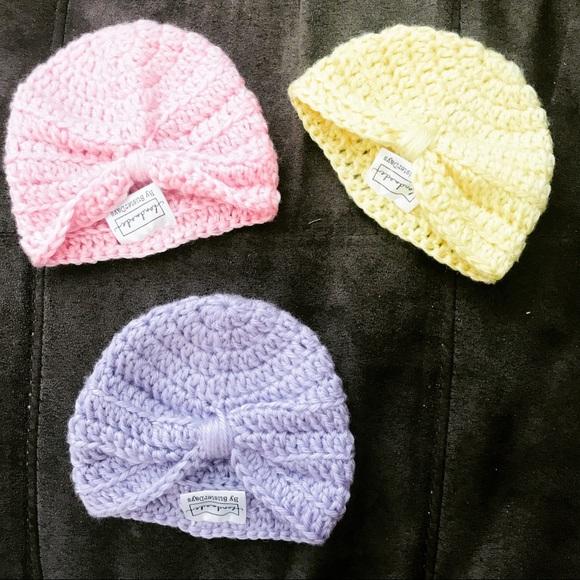 130d1ce69 Crochet baby turban hats